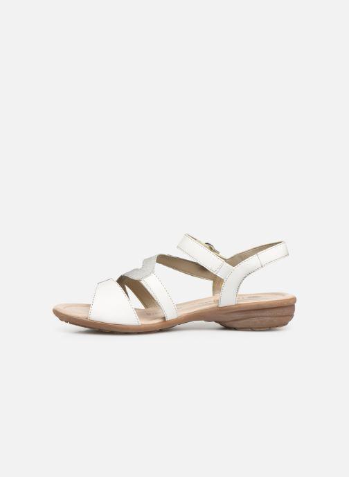 Sandales et nu-pieds Remonte Dulce R3651 Blanc vue face