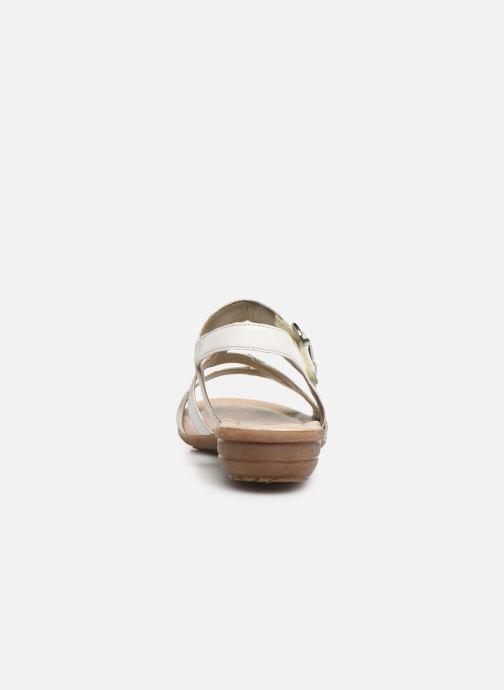 Sandales et nu-pieds Remonte Dulce R3651 Blanc vue droite