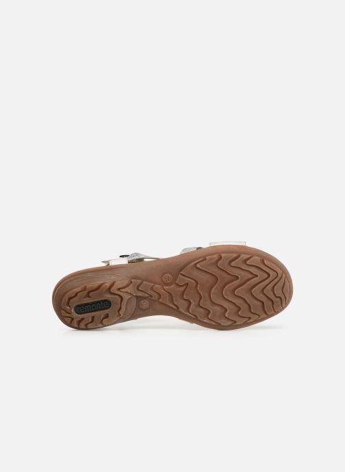 Sandales et nu-pieds Remonte Dulce R3651 Blanc vue haut