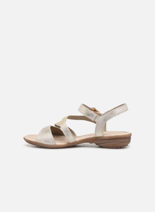 Sandales et nu-pieds Remonte Dulce R3651 Or et bronze vue face