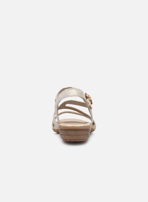 Sandales et nu-pieds Remonte Dulce R3651 Or et bronze vue droite
