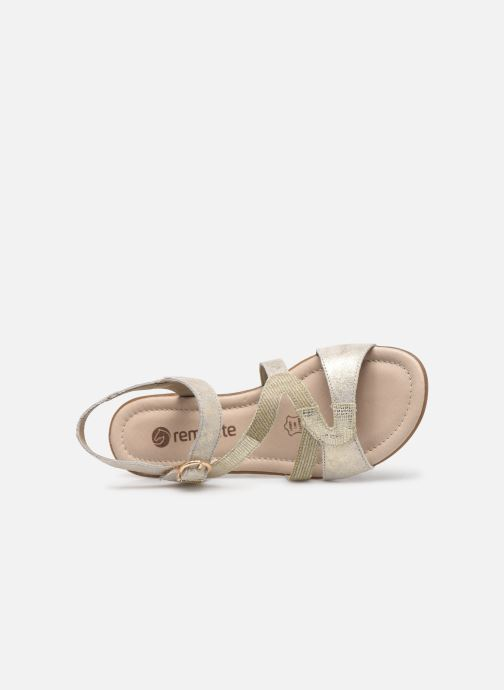 Sandales et nu-pieds Remonte Dulce R3651 Or et bronze vue gauche