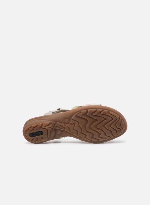 Sandales et nu-pieds Remonte Dulce R3651 Or et bronze vue haut