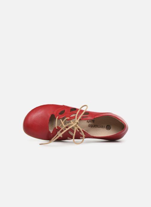 Chaussures à lacets Remonte Naomy R3801 Rouge vue gauche