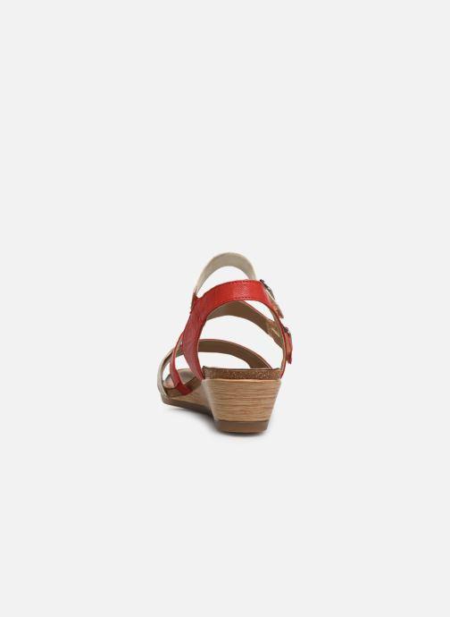 Sandales et nu-pieds Remonte Mei R4453 Rouge vue droite