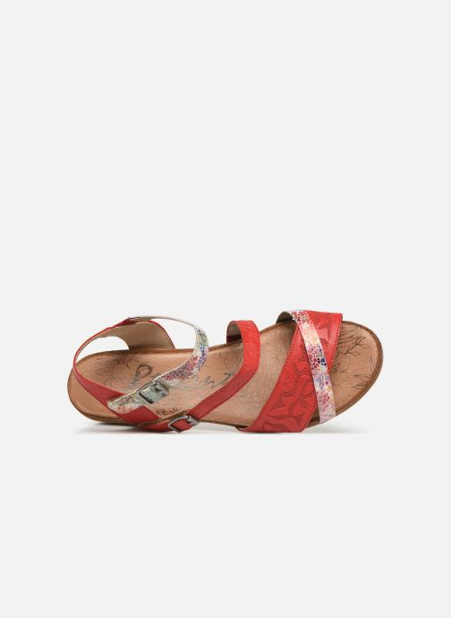 Sandals Remonte Mei R4453 Red view from the left