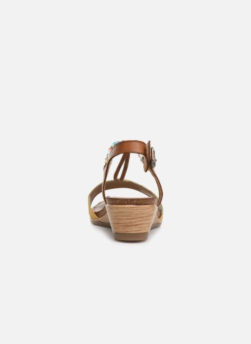 Sandales et nu-pieds Remonte Alia R4459 Jaune vue droite