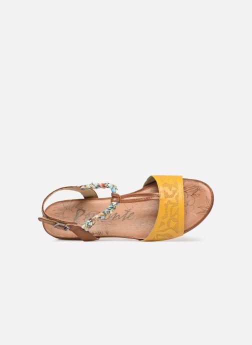 Sandales et nu-pieds Remonte Alia R4459 Jaune vue gauche