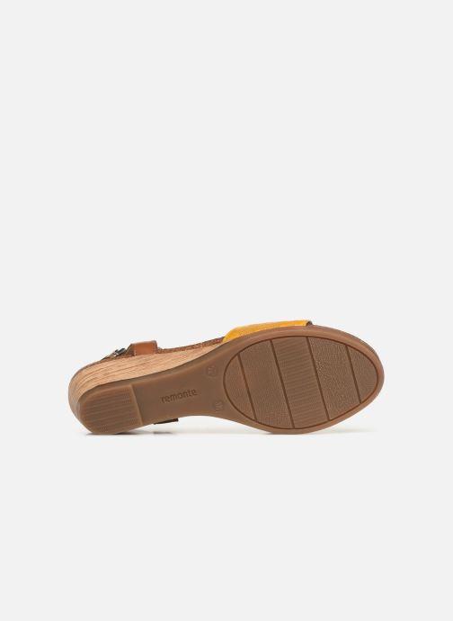 Sandales et nu-pieds Remonte Alia R4459 Jaune vue haut