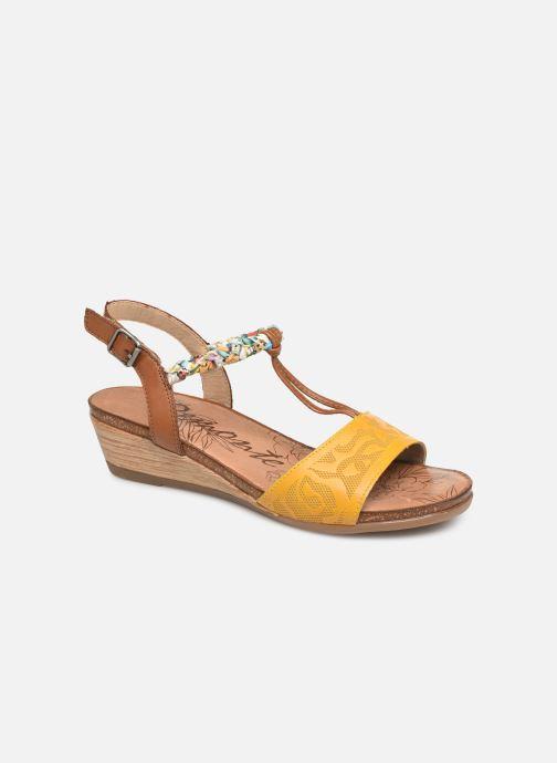 Sandales et nu-pieds Remonte Alia R4459 Jaune vue détail/paire