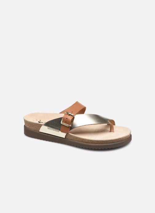 Sandales et nu-pieds Mephisto Helen Mix Or et bronze vue détail/paire
