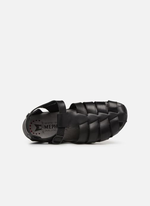 Sandales et nu-pieds Mephisto Sam Noir vue gauche
