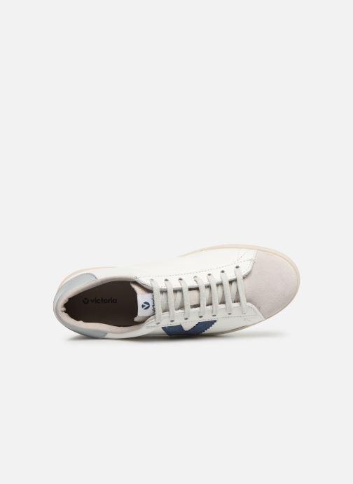 Sneakers Victoria Berlin Piel Contraste Wit links