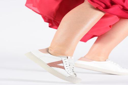 Sneakers Victoria Berlin Piel Contraste Bianco immagine dal basso