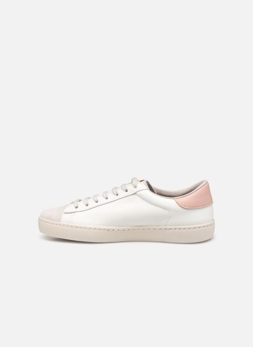 Sneakers Victoria Berlin Piel Contraste Bianco immagine frontale