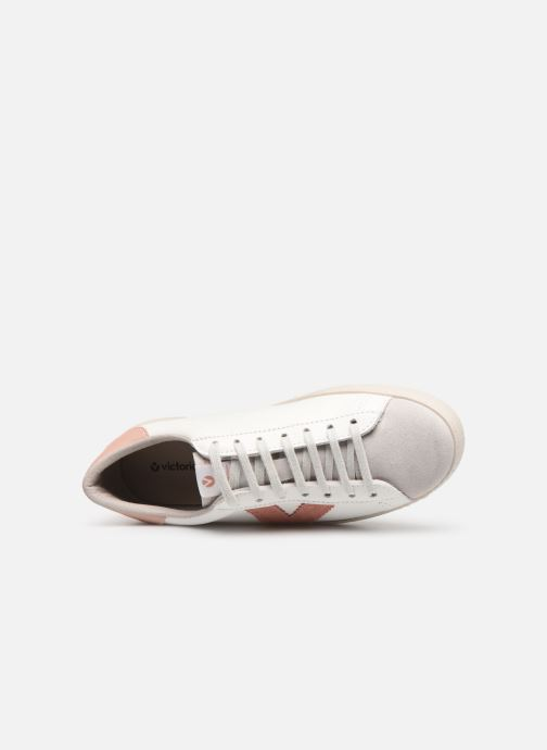Sneakers Victoria Berlin Piel Contraste Bianco immagine sinistra