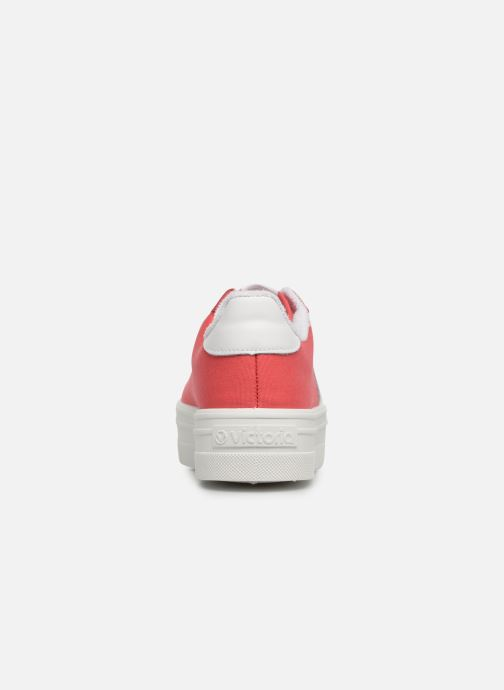 Baskets Victoria Barcelona Deportivo Lona Rouge vue droite