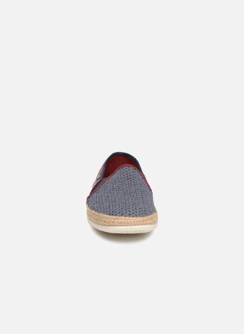 Espadrilles Victoria Andre Elasticos Rejilla Bico Bleu vue portées chaussures