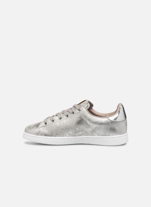 Sneakers Victoria Tenis Metalizado Zilver voorkant