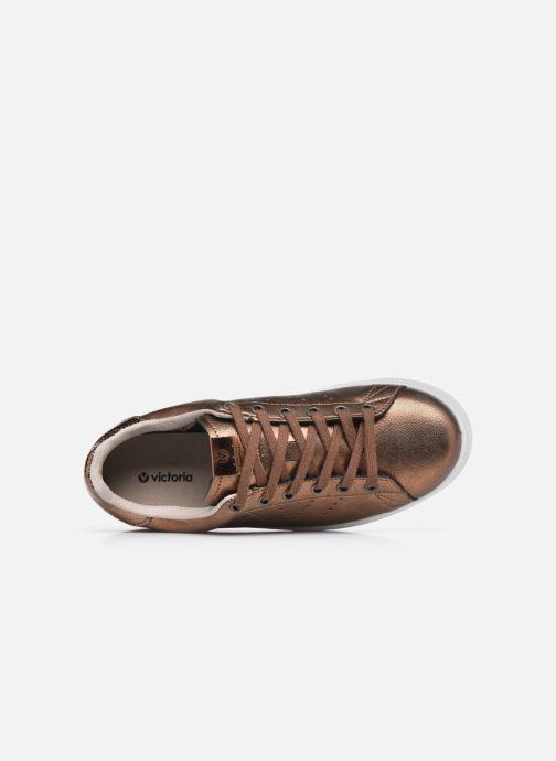 Sneaker Victoria Tenis Metalizado braun ansicht von links