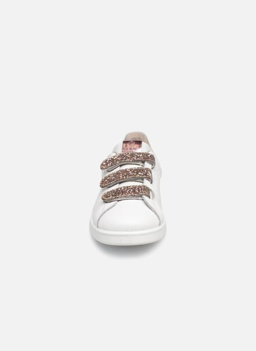 Baskets Victoria Tenis Velcros Glitter Blanc vue portées chaussures