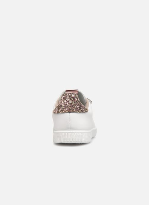 Baskets Victoria Tenis Velcros Glitter Blanc vue droite