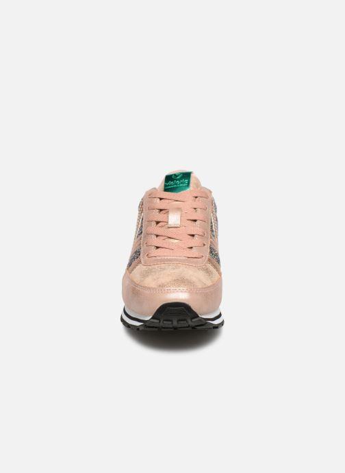 Baskets Victoria Cometa Glitter Rose vue portées chaussures