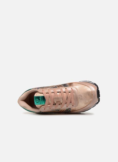 Sneakers Victoria Cometa Glitter Rosa immagine sinistra