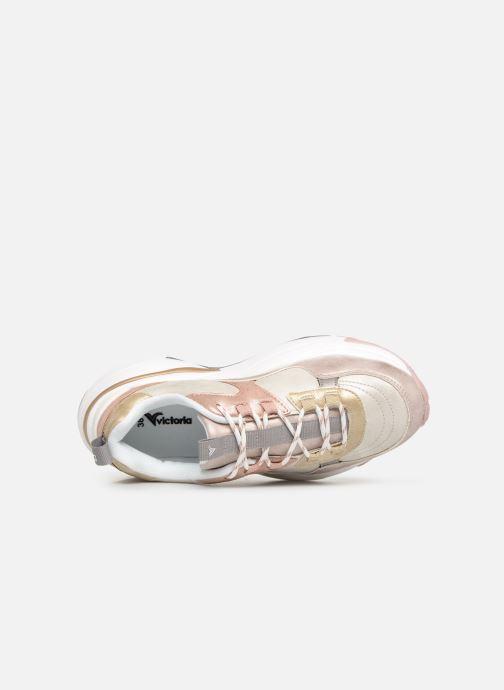 Sneakers Victoria Aire Malla Engomado Beige immagine sinistra