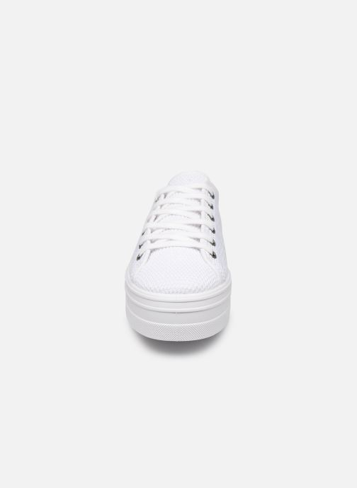 Baskets Victoria Barcelona Tricot Blanc vue portées chaussures