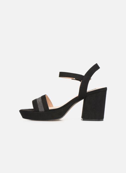 Sandales et nu-pieds MTNG 50398 Noir vue face