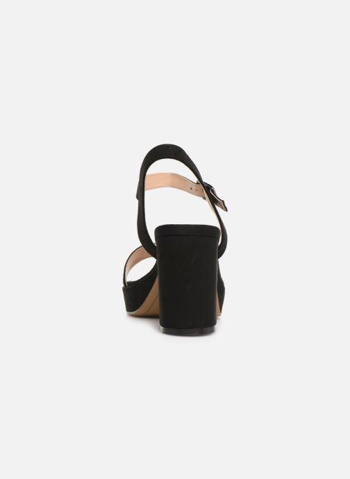 Sandales et nu-pieds MTNG 50398 Noir vue droite