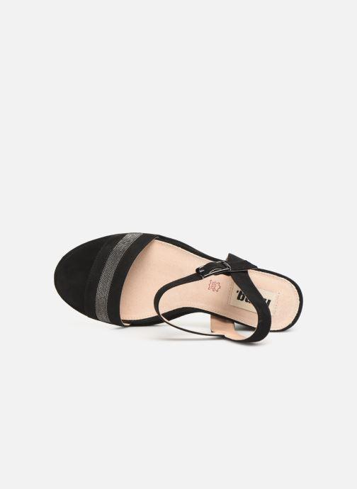 Sandales et nu-pieds MTNG 50398 Noir vue gauche