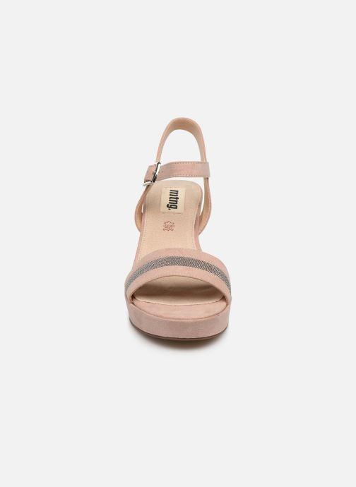 Sandalen MTNG 50398 beige schuhe getragen