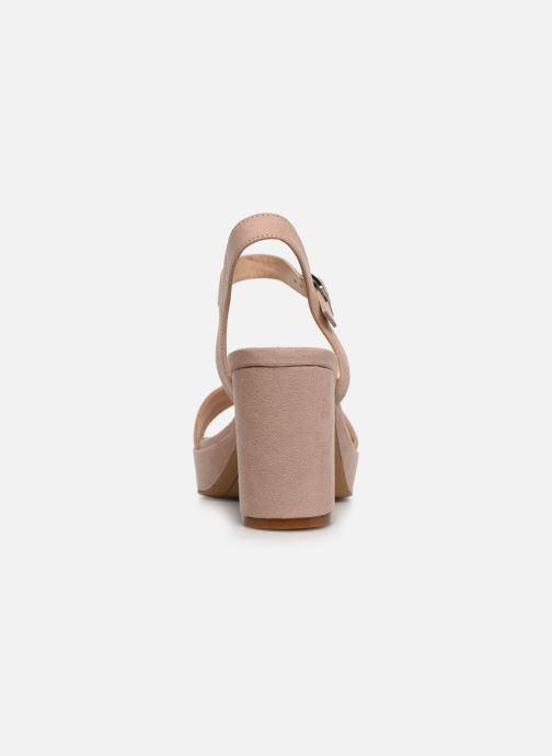 Sandales et nu-pieds MTNG 50398 Beige vue droite