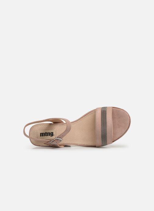 Sandales et nu-pieds MTNG 50398 Beige vue gauche