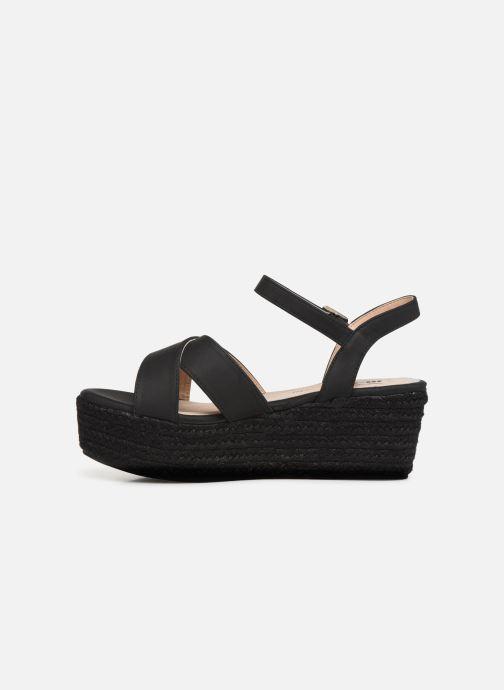 Sandales et nu-pieds MTNG 50439 Noir vue face