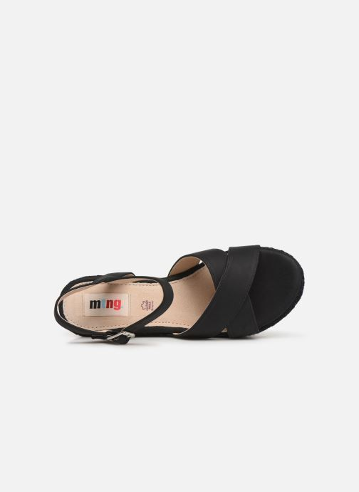 Sandales et nu-pieds MTNG 50439 Noir vue gauche