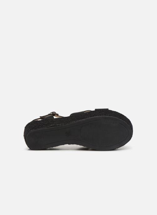 Sandales et nu-pieds MTNG 50439 Noir vue haut