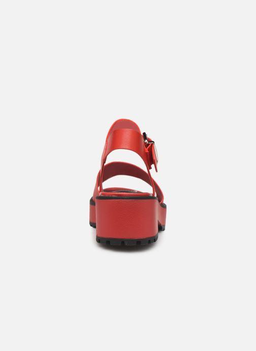 Sandales et nu-pieds MTNG 50684 Rouge vue droite