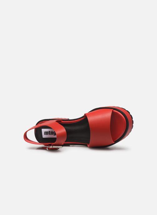 Sandales et nu-pieds MTNG 50684 Rouge vue gauche
