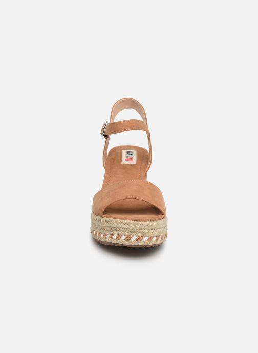 Espadrilles MTNG 51065 Marron vue portées chaussures