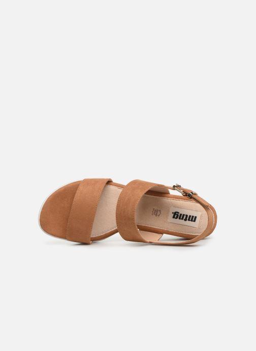 Sandales et nu-pieds MTNG 51071 Marron vue gauche