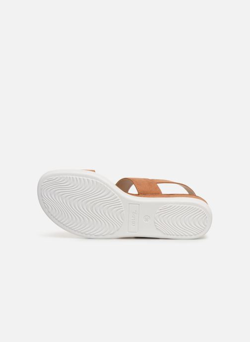 Sandales et nu-pieds MTNG 51071 Marron vue haut