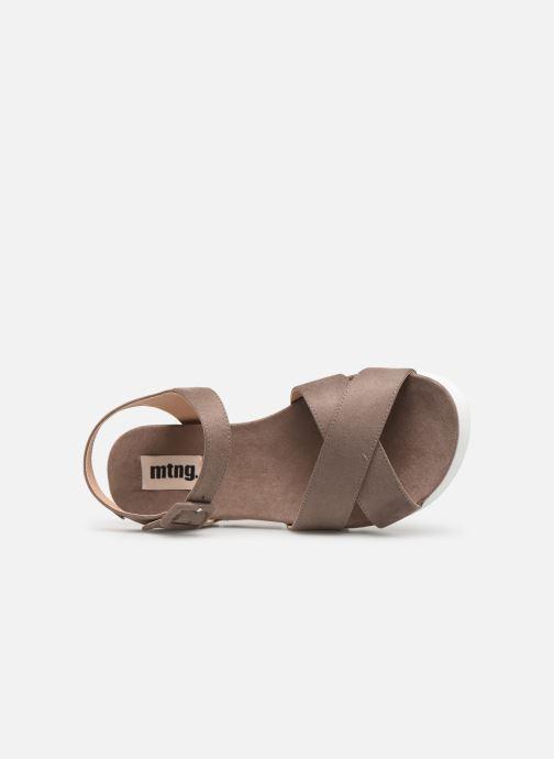 Sandalen MTNG 51086 braun ansicht von links