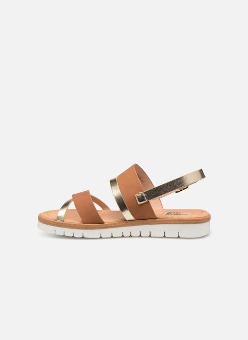 Sandales et nu-pieds MTNG 51089 Marron vue face