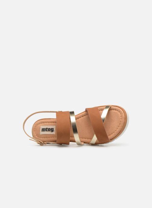Sandales et nu-pieds MTNG 51089 Marron vue gauche