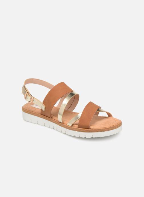 Sandales et nu-pieds MTNG 51089 Marron vue détail/paire