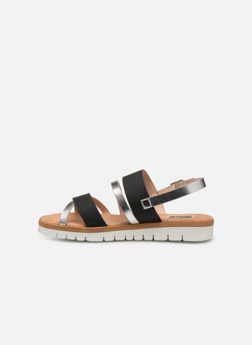Sandales et nu-pieds MTNG 51089 Noir vue face