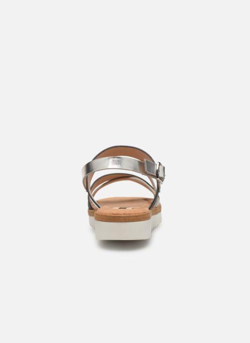 Sandales et nu-pieds MTNG 51089 Noir vue droite